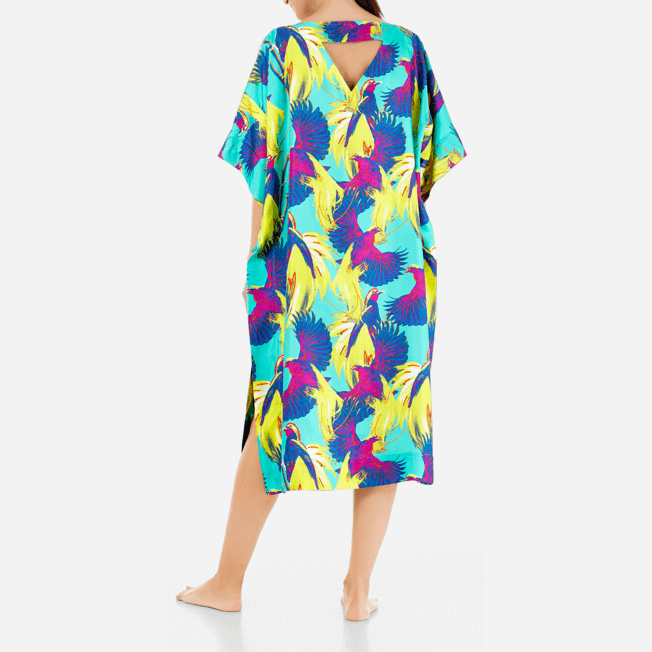 Vilebrequin - Robe en Twill de Soie Femme Birds of Paradise - 4