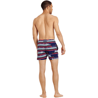 Men Stretch classic Printed - Men Swimtrunks Stretch VBQ Cruise Lines, Midnight blue backworn