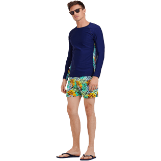Men Others Printed - Men Rashguard Jungle, Midnight blue supp2