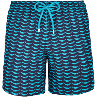Men Classic Printed - Poissons Hamac Swim shorts, Azure front
