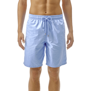 Men Long classic Solid - Solid Long Cut Swim shorts, Sky blue supp2
