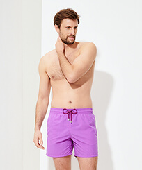 Men Classic Solid - Men Swimwear Solid, Orchid frontworn
