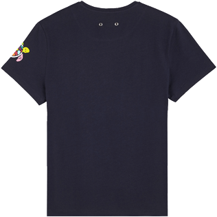 Men Others Printed - Men Cotton T-Shirt Tortues Multicolors, Navy back