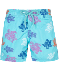 Boys Others Printed - Boys Swimwear Ronde des Tortues Indies, Lazulii blue front