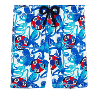 Boys Others Printed - Boys Swimwear Soccer Turtles, White front