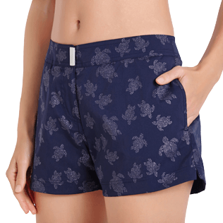 Donna Altri Stampato - Shorts da mare donna Diamond Turtles, Blu marine supp1