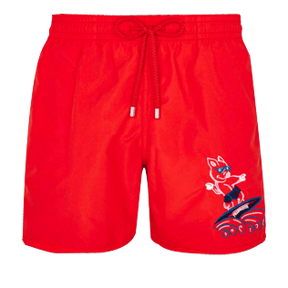 Men Embroidered Printed - Men Placed Embroidery Swimwear The Year Of The Pig, Medicis red front