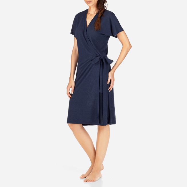 Vilebrequin - Solid Linen Wrap-Around Dress - 3
