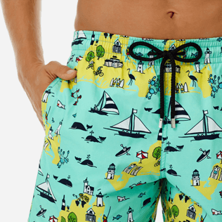 Men Classic Printed - Men swimtrunks Martha's Vineyard, Mint supp1