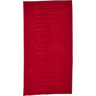 Others Solid - Beach Towel in Terry Cloth Solid Jacquard, Poppy red front