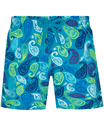 Boys Others Printed - Boys Swim Trunks Ocean Paisley Multicolore, Light azure front