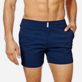 Men Flat belts Solid - Men Swim Trunks Short Flat Belt Stretch Prince de Galles, Midnight blue supp1