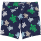 Men Fitted Printed - Multicolor Turtles Fitted cut Swim shorts, Navy back