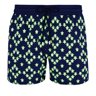 Men Stretch classic Printed - Men Swimwear Glow in the dark Stretch Squad Turtles, Navy front