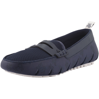 Men Others Printed - Men Waterproof Loafers Solid, Navy / white back