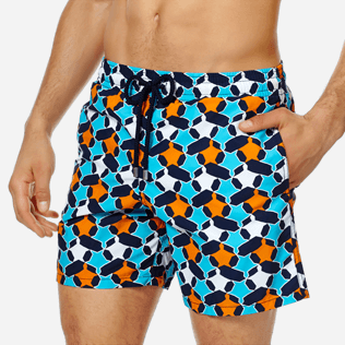 Men Classic Printed - Men Swim Trunks Turtles Stars, Navy supp1