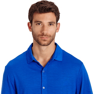 Men Others Solid - Jersey Tencel Men Shirt Solid, Royal blue supp1