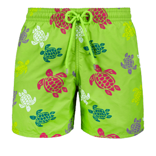 Men Classic Printed - Men swimtrunks Tortues Multicolores, Grass green front