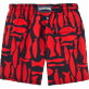 Men Classic / Moorea Printed - Silex Fishes Swim shorts, Poppy red back
