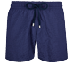 Men Stretch classic Solid - Men Stretch Swim Trunks Micro Ronde des Tortues, Sapphire front