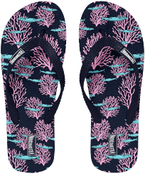 Men Others Printed - Men Flip Flops Coral & Fish, Navy front