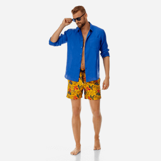 Men 017 Printed - Men Embroidered Swimwear Porto Rico - Limited Edition, Mango supp2