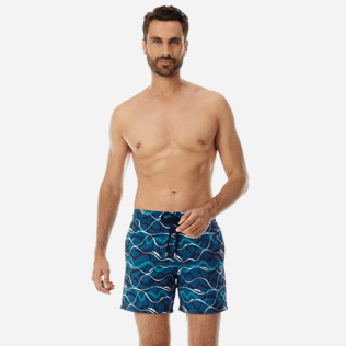 Men Embroidered Embroidered - Men Embroidered Swimwear Ostend - Limited Edition, Spray frontworn