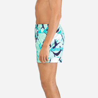 Men Classic / Moorea Printed - Men Stretch Swimtrunks Magic Whales, Lagoon supp3