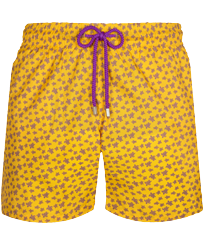 Herren Klassische dünne Stoffe Bedruckt - Men Swimwear Ultra-light and packable Micro Ronde des Tortues, Curry front
