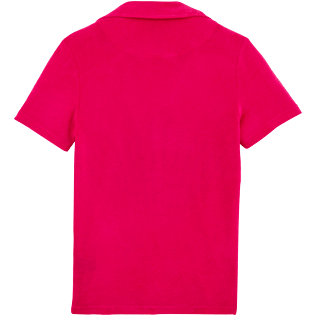 Donne Polo Unita - Polo in spugna tinta unita, Shocking pink back