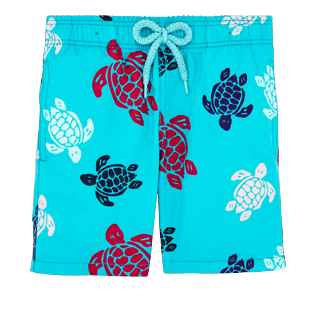 Boys Others Printed - Boys Swimtrunks Multicolor Turtles, Curacao front