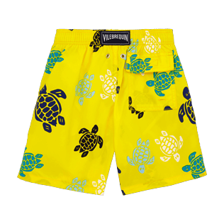Chicos Corte Clásico Estampado - Bañador con estampado Multicolor Turtles, Limon back