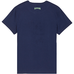 Men Others Embroidered - Men Cotton T-Shirt embroidered pattern, Navy back