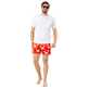 Men Stretch classic Printed - Men Swimwear Stretch St Valentin 2020, Medicis red supp2