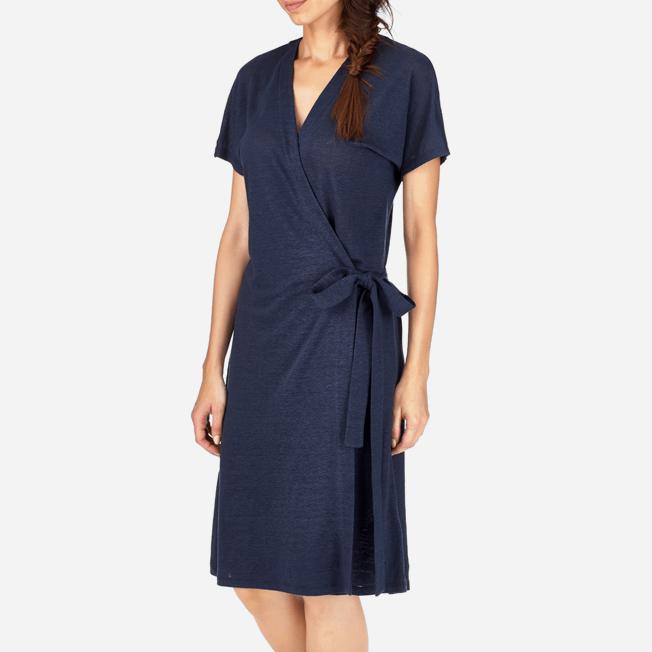 Vilebrequin - Solid Linen Wrap-Around Dress - 5