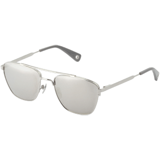 Others Solid - Silver mirror Sunglasses, Silver back