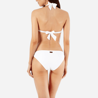 Women Classic brief Embroidered - Women Bikini Bottom Eyelet Embroidery, White supp2