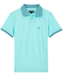 Men Others Solid - Men Terry Cloth Polo Shirt Solid, Lagoon front
