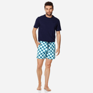 Men Classic Printed - Men Swim Trunks Wax Turtles, Acqua supp2