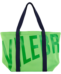 Others Solid - Large Beach Bag Neoprene, Neon green front