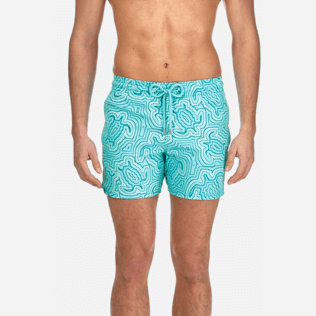 Men Classic / Moorea Printed - Men Stretch Swimwear Hypnotic Turtles, Curacao supp1