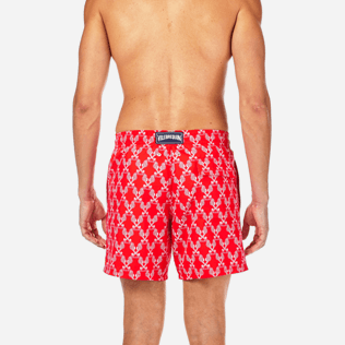 Men Classic / Moorea Printed - Valentine Day Hippocampes Swim shorts, Poppy red supp2