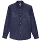 Men Others Solid - Men Cotton Western Shirt, Dark denim w1 front