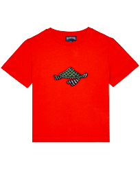 Boys Others Printed - Boys Cotton Embroidered T-Shirt Turtle Swim, Medlar front