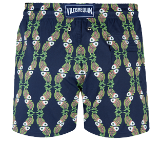 Men Stretch classic Printed - Men Swim Trunks Stretch Sweet Fishes, Navy back