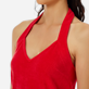 Women Others Solid - Women Terry cloth Halter Dress Solid, Red polish supp1
