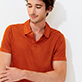 Men Others Solid - Men Linen Jersey Polo Shirt Solid, Paprika supp2