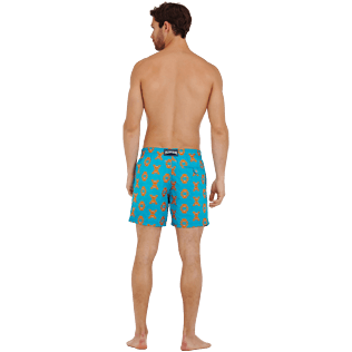 Men Classic Embroidered - Men Swim Trunks Embroidered Crabs - Limited Edition, Curacao backworn