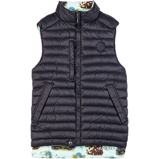 Others Printed - Unisex Sleeveless Down Jacket Joker Queen, Aquamarine front