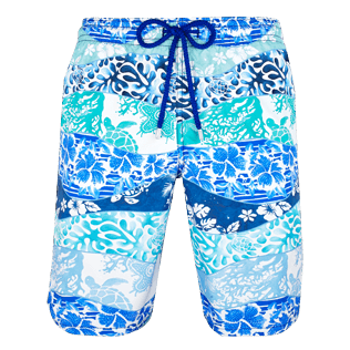 Men Long classic Printed - Men Long Swimtrunks Vague Heritage, Navy front